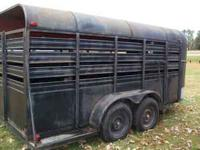 This stock trailer has good tires, light and floor.