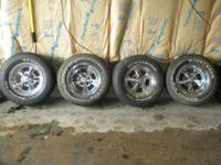"14"" Cragar SS Rims. I believe they are 8"" wide. Chrome"
