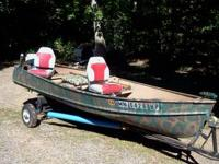 14' Crestliner boat, 4.5 HP Evenrude and ez-load