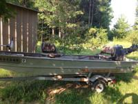 has 18hp throttle motor. lake all set. purchased for