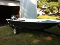 Newly restored 1986 CMF fiberglass boat with a 30 hp