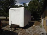 14 x 7 FOOT ENCLOSED ALUMINUM PANEL CARGO TRAILER FOR
