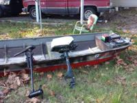 i have a 14 foot flat bottom boat it is 14 long 4 wide
