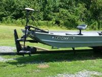 14 foot Jon Boat with Accessories for sale. Excellent