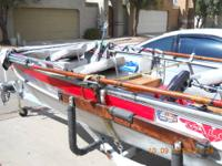 selling my 14 foot Valco Aluminum boat. Boat has a 15
