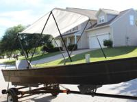 Up for sale is a light weight, 14 ft aluminum fishing