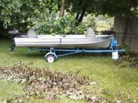 14 Ft. Aluminum Montgomery Wards boat, holds water out
