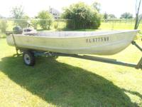 Have a 14 ft Deep V Aluminum Boat for sale it comes