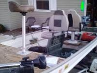14 ft john boat. I built a fishing deck in the front of