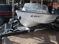 !4 Ft. Glaspar with 50 Hp. Mercury engine. Has 3 Hp.