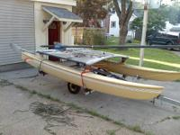 "14 ft Hobie Cat ""turbo"" design (with furling jib) and"