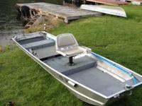 14ft Sears Game Fisher aluminum boat. Customized decks
