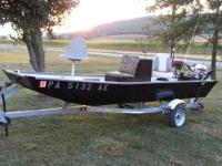 ~14 ft blue fin jon boat -15 hp electric start johnson