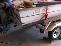 Nice boat for fishing! 30 horse evinrude motor w/ new