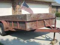 Selling our 14 foot tandem trailer for $850 CASH.