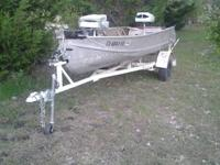 Perfect first boat. Motor runs excellent, no smoke, 2