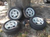 14 inch SET OF RIMS WITH TIRES FOR SALE THAT CAME OFF A