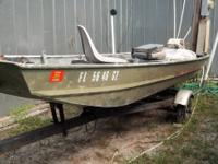 14' flat bottom wide john boat casting deck and storage