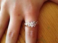 14k gold diamond engagement ring for sale. Please see