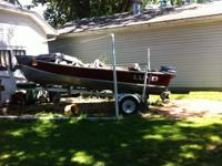 14' LUND fishing boat for sale, gently used, great