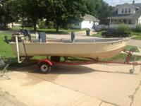 For sale  14' Mirrocraft aluminum V bottom fishing boat