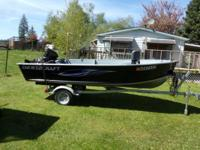 Fresh Smokercraft 14' boat and trailer acquired new