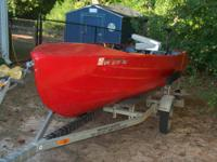 1962 Feathercraft Hawk III refurbished 14' V-Hull boat