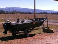 Recently restored 14' Valco alluminum fishing boat,