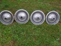 14 inch wire hubcaps, i believe their're from late 70's