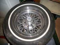 A FULL SET OF CRAGER 30 SPOKE STAR WIRE WHEELS , HAVE