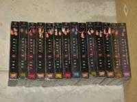 There are 14 VHS tapes. each tape has 2-3 episodes on