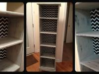 $140 ~ Awesome Chevron Bookshelf with plate grooves.