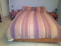 Selling a 1970's style QUEEN BEDFRAME and 2