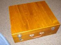 141 piece set SIAM BRASS/TEAK Flatware with case very