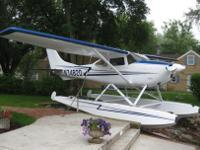 1972 Cessna C-182P Floatplane 4199 TTAF O470R 536 SMOH