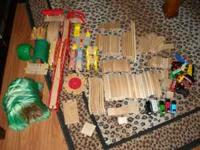 Train Set includes: 127 pieces of wooden track 18