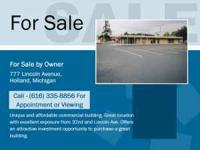 Commercial building for sale located in an area with