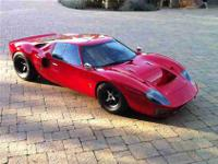 This 1966 Ford GT40 MK1 Coupe features a 408ci cyl
