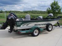 2000 Warrior 1890 BT Falcon, 90 HP Mercury with pro