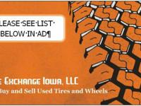 Tire Exchange Iowa, LLC  - PLEASE CALL TO SCHEDULE AN