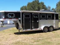 PRE-OWNED 2006 EXISS 3 HORSE SLANT LOAD GOOSENECK