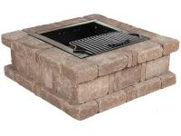 The RumbleStone Square Fire Pit Kit by Pavestone is