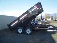 14' PJ Dump trailer. Bumper pull, rated at 14,000 lbs