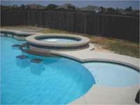 Giant 14' X 28' inground gunite pool. Installed with