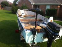 14' Deep/Wide Mirrorcraft heavy duty aluminum boat. In