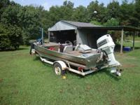 14ft Bass Tracker with 70hp Johnson motor. $1500 obo