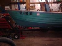 14ft crestliner deep v wide beam fishing boat with 6hp