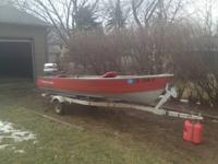 VERY NICE AND FAST 14FT V ALUMINUM FISHING BOAT. COMES