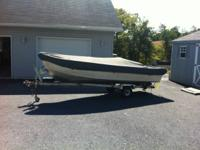 14 Ft Gruman Boat with Trailer 9.9 HP Evinrude Gas