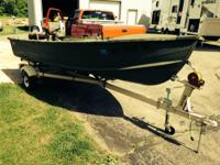 18hp mercury runs remarkable. Trailer and boat